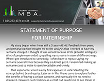 statement of purpose iit What do we look for in an sop the sop is your opportunity to explain why you wish to pursue the mba course and how it will help you to attain your career goals a description of your.