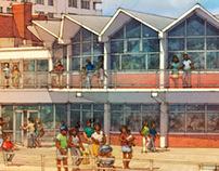 Asbury Park - revived beachfront renderings