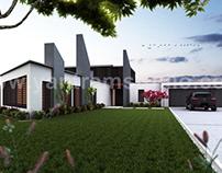 Beautiful Modern Exterior Rendering design by Yantram a