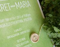 Invitation / Green summer wedding