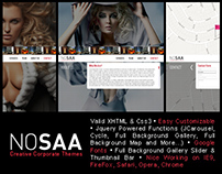 NOSAA | Full Page Slider Creative Template