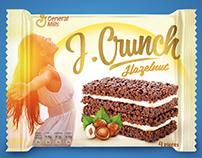 Sweet crunchy bar packaging design