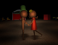 "3D animation ""Puppet Love"""