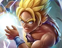 Goku- Digital illustration FanArt