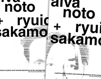 Poster: Alva + Ryuichi