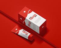 Free Cosmetic Tube Box Mockup