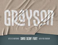 Grayson font & mockup