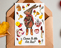 Mock Up for Creative Market. Autumn hero, Bunny.
