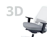 """3d """"Chair"""" (3d Max)"""