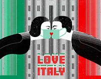 Love Italy art by Balbusso twins