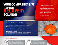 Capital Recovery Center flyer and logo design