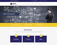 Business Theme | IT Company Home Screen Web Design