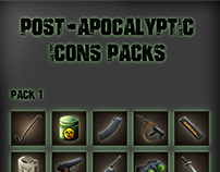 Post-apocalyptic Game Icons
