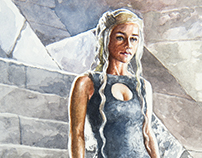 Daenerys Targaryen - Watercolor