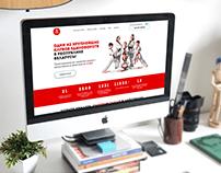Martial arts club - Landing Page Design