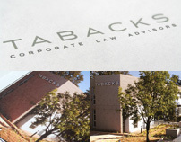 Tabacks Corporate Law logo & stationary