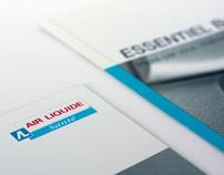 Sales brochure for Air Liquide Santé