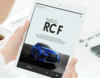 Nuevo RC F Lexus - Minisite Responsive