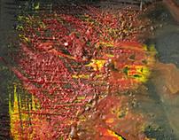 Untitled (encaustic Red)