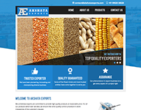 Static website for Akshata exports