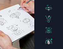 AURØRA design | Process illustrations