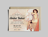 Pin-up themed invitation