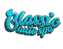 Classic Auto Spa Type Logo