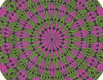 Red and Green Hypnotic Eye