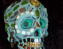 Las Abuelas Hermosas - Dia de los Muertos Mosaic Skull