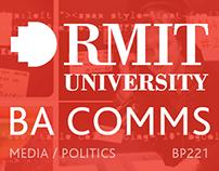 Bachelor of Communications (Media / Politics)