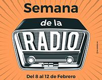 Semana de la radio. Cartel promocional
