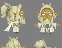Lowpoly characters made for Krosmaster Arena (Ankama)