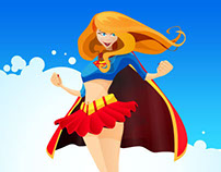 Super Girl Free Vector