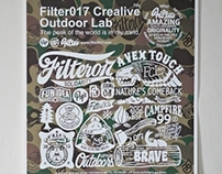 Filter017「FCL OUTDOOR LAB」Screen Printing Poster