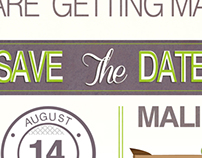Wedding invites and other material