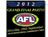 AFL Grand Final Party Flyer