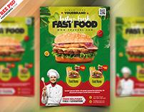 Fast Food Restaurant Menu Flyer PSD