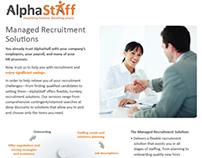 AlphaStaff Recruitment Collateral