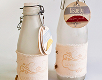 Lovely. Recycled glass water bottles