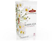 Packaging design for Koro herbal teas
