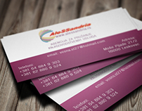 Business card design for Accounting agency