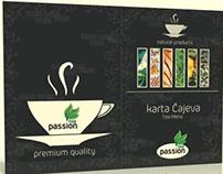 Tea Menu Design for print