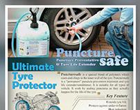Puncture Safe Flyer Design