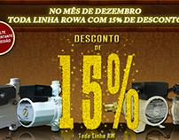 Divulgação de Produtos - Empresa Bombas Rowa do Brasil