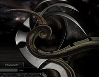 Dark Territories  - Web layout design