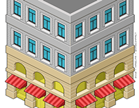 Simple pixel art building