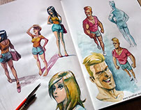 Character Design (Watercolor)