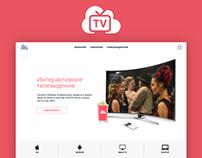 PinTV. Landing, Mobile app & SmartTv App