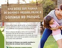 Anúncio Prefeitura de Itu - Domingo no Parque