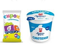 """Дизайн упаковки для ТМ """"Молочная ферма"""""""